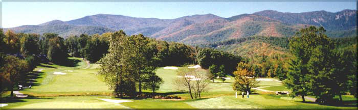 Golf course near Asheville  in Western North Carolina Mountains
